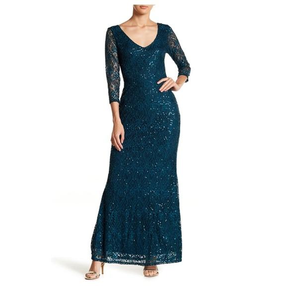 Gorgeous Gown Sequin Lace Evening Cocktail Dress 32257cf1b2a2